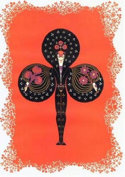Ace of Clubs by Erte