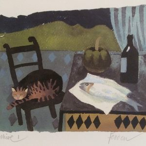 Cat and Fish by Mary Fedden