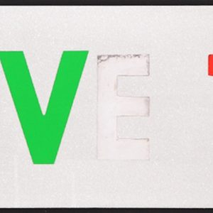 I Love You - White with Diamond Dust by Sir Peter Blake