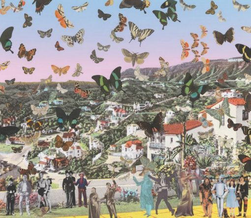 The Butterfly Man in Hollywoodland – Homage to Damien Hirst