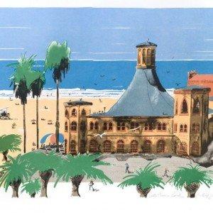 Santa Monica Beach by Paul Hogarth OBE RA