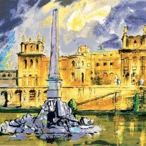 Duchene Fountain Blenhein by John Piper