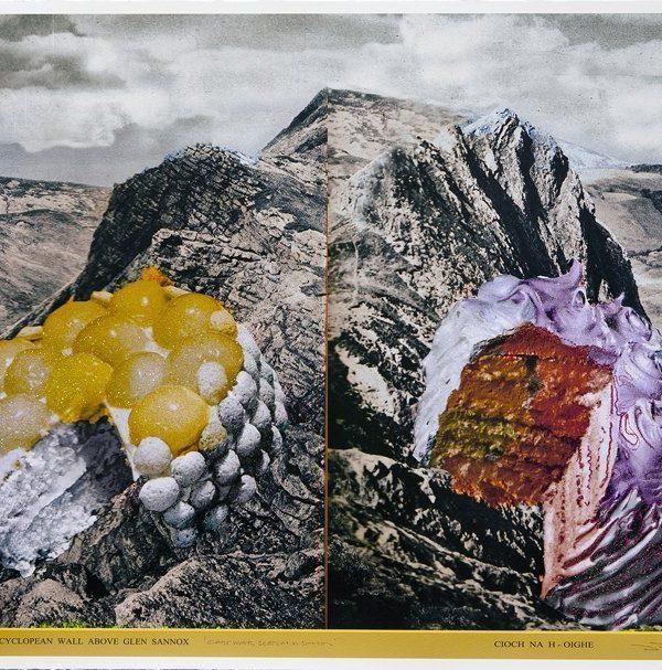 A Cyclopean Wall Above Glen Sannox and Cioch Na H Oighe by David Ferry