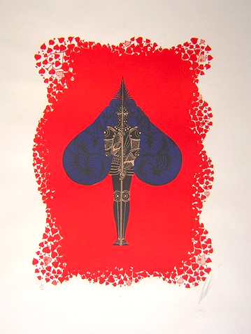 Ace of Spades by Erte
