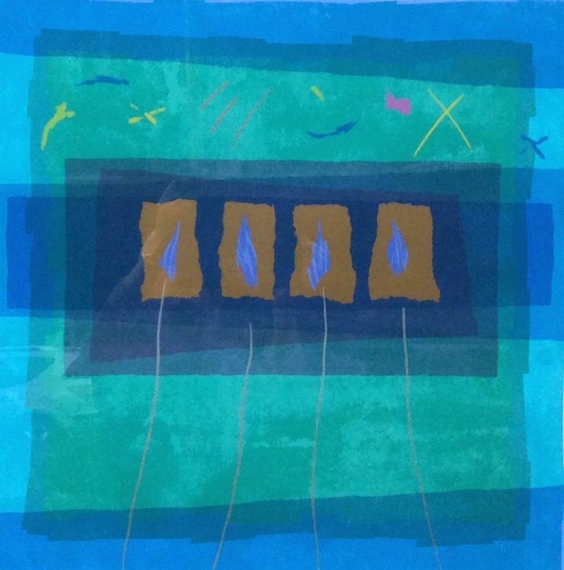 Edged Coloursquare Five by Anita Ford