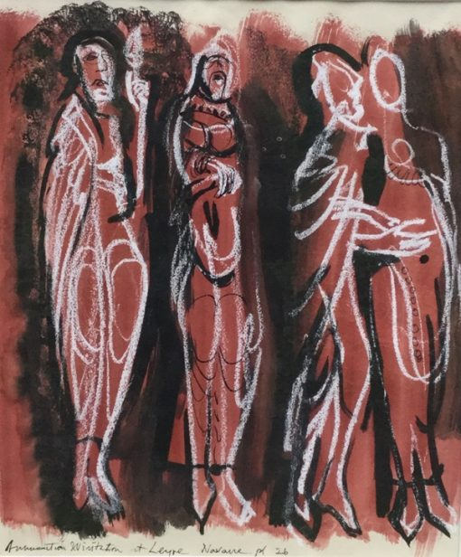 Annunciation Visitation at Leyre Navarre by John Piper