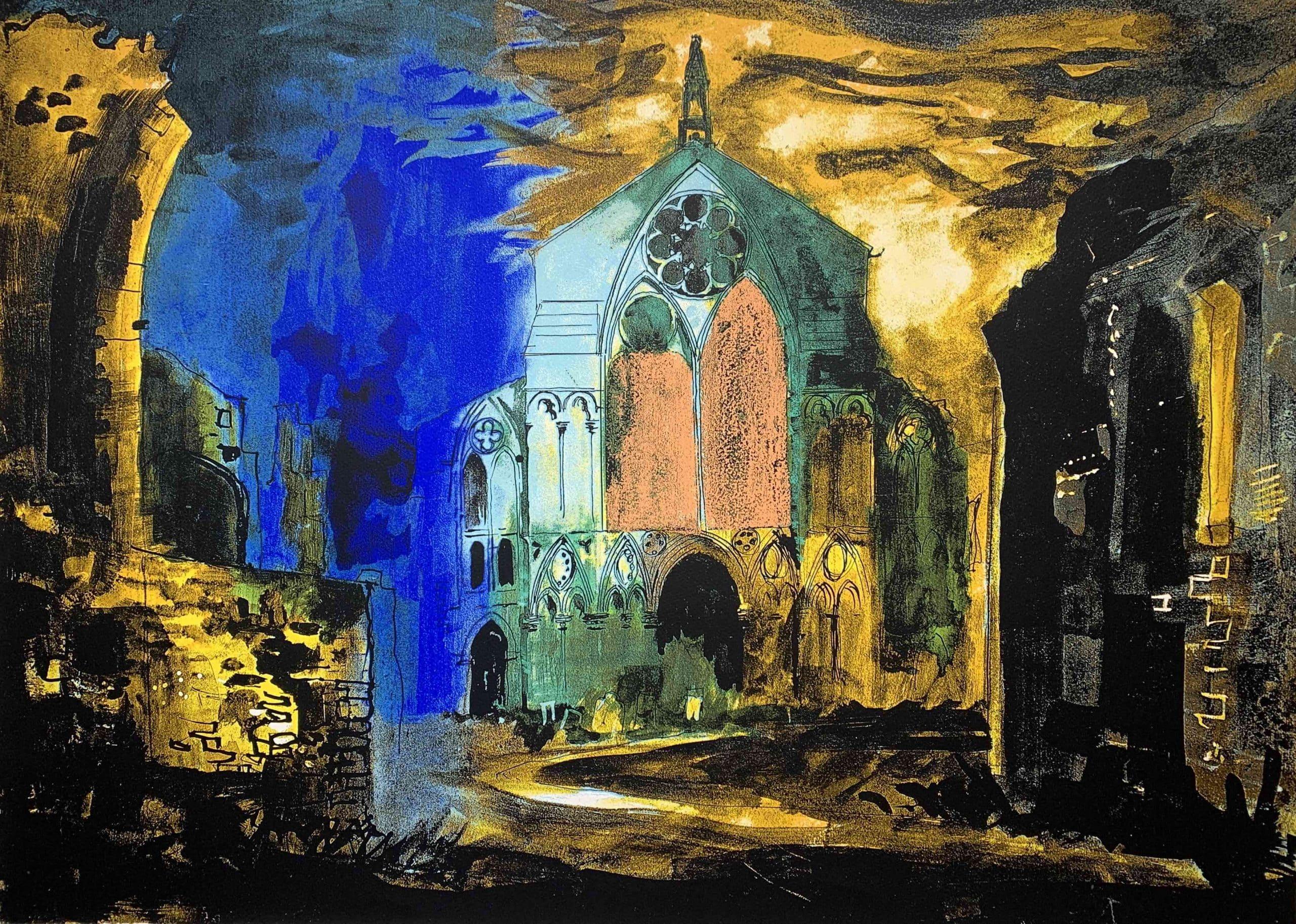 Binham Abbey (318)_Screenprint_1981_552 x 769mm_Keplra_Marlborough_John Piper