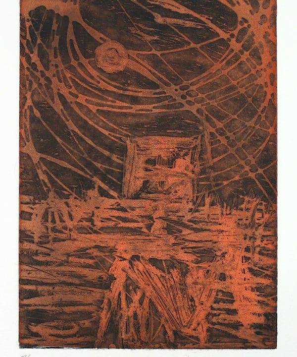 'Kelly' (orange) by Sir Sidney Nolan