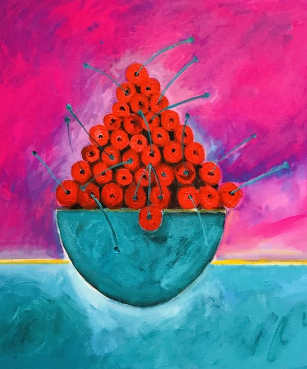 'Life is a Bowl of Cherries, Magenta Sky' 2020 by John D Edwards