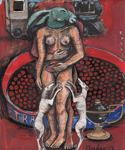 Lovers with Train and Tray