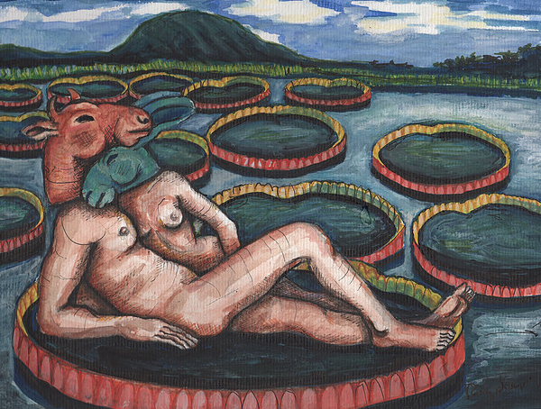 Lovers with Waterlilies