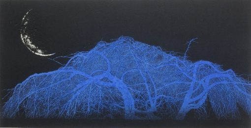 New Moon, Weeping Cherry Tree (blue)