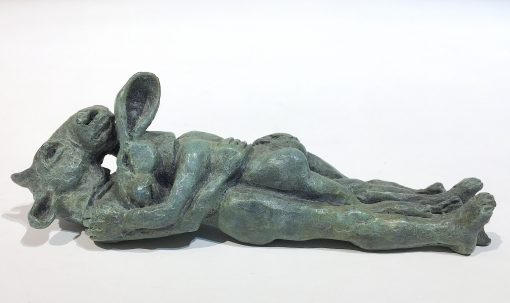 Reclining Lovers Miniature by Sophie Ryder