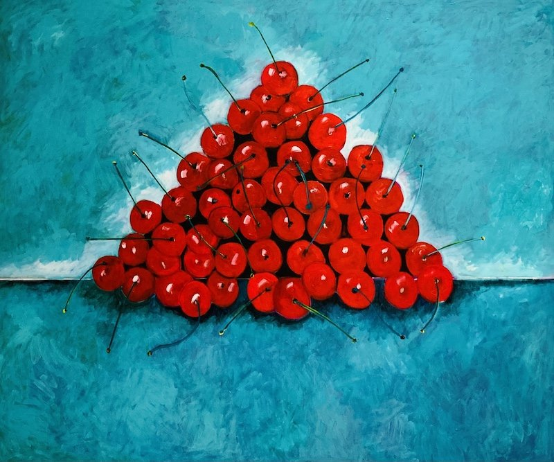 'Red, White and Blue' (50 Cherries, 50 States) 2021 by John D Edwards