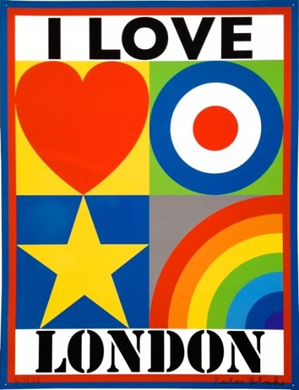 I Love London by Sir Peter Blake