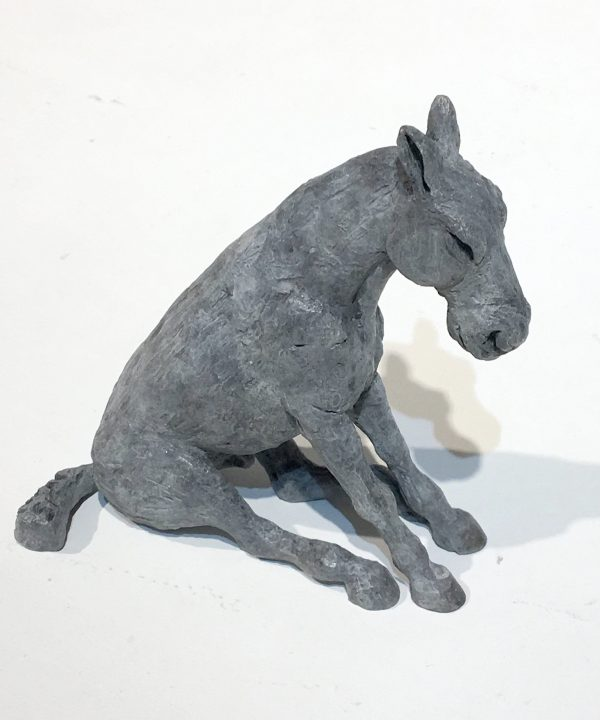 Sitting Horse Miniature by Sophie Ryder
