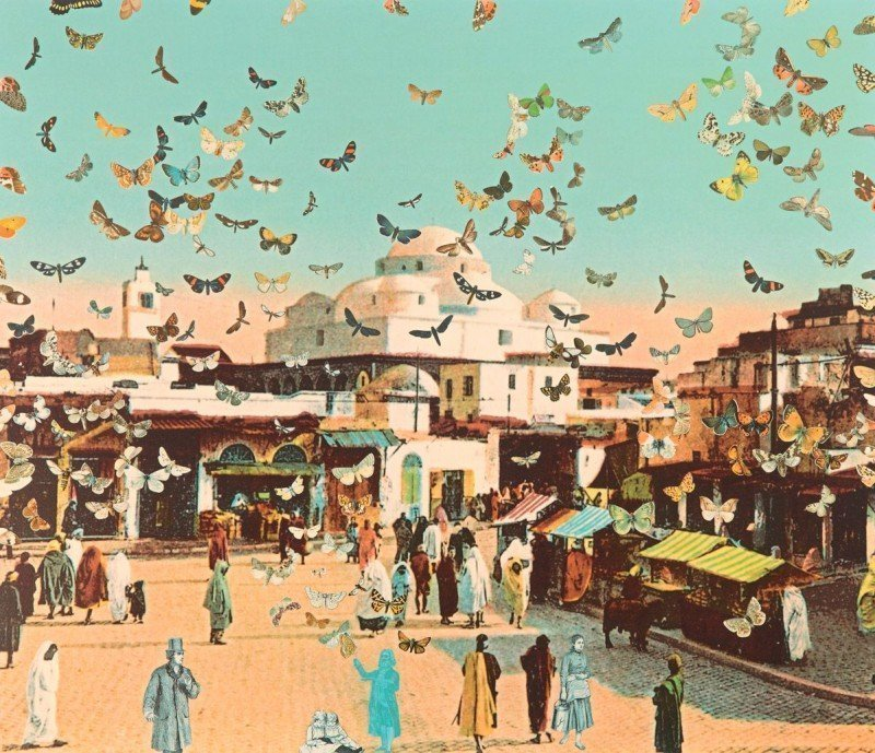 The Butterfly Man in Tunis – Homage to Damien Hirst by Sir Peter Blake