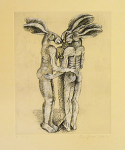 Three Lady Hares