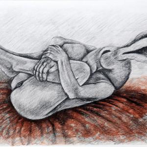 upside down kneeling by sophie ryder