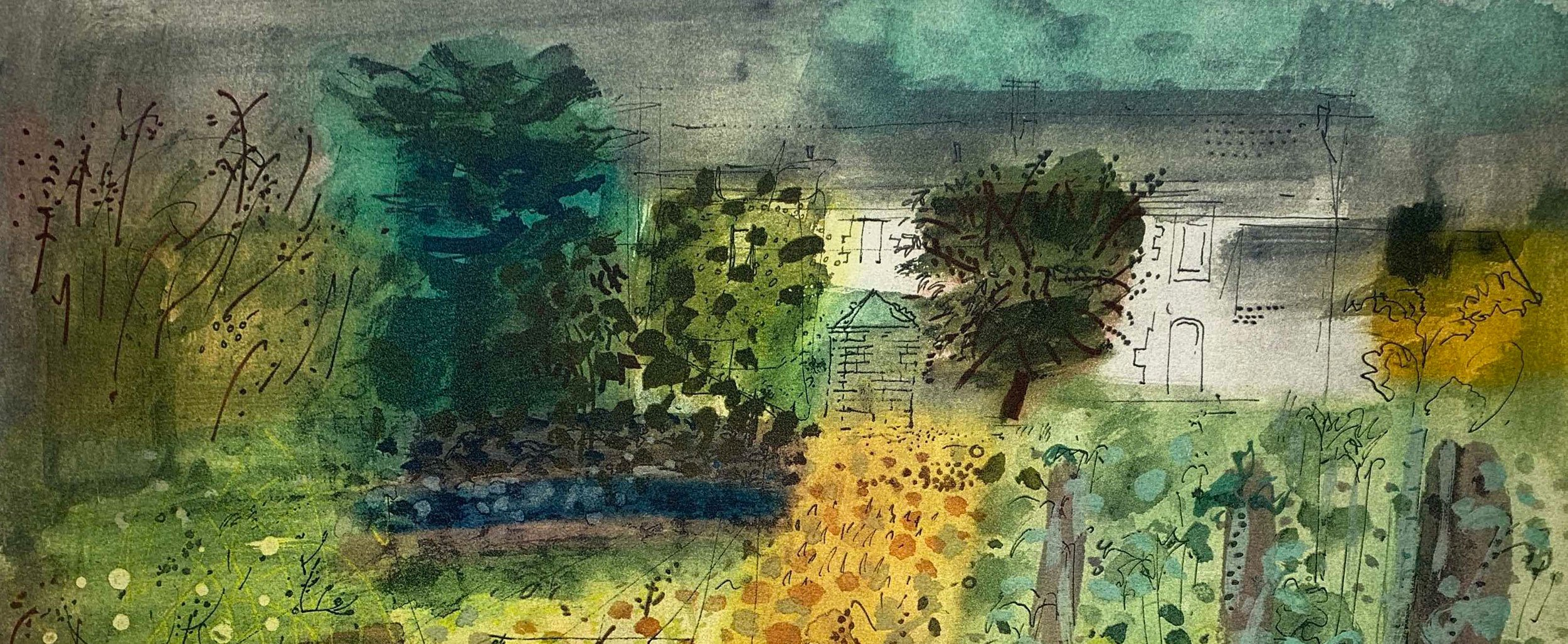 Locmariaquer Brittany_detail_Etching_Aquatint_1990_John Piper